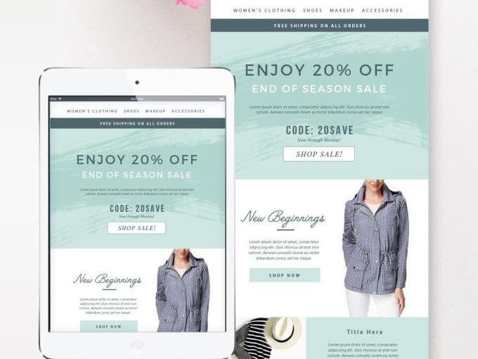 Design Amazing Psd Email Template Newsletter Templatepsd Web Template Design