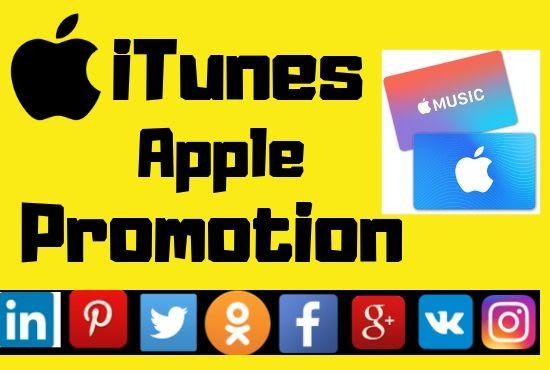 do itunes apple music promotion on social media
