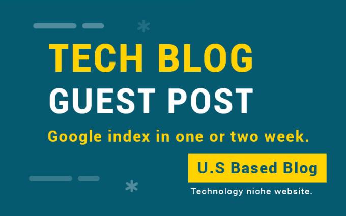 publish guest post on tech blog