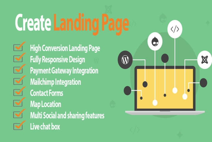 design responsive landing page wordpress, html css