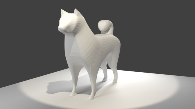 create a low poly 3d character for use in games or artwork