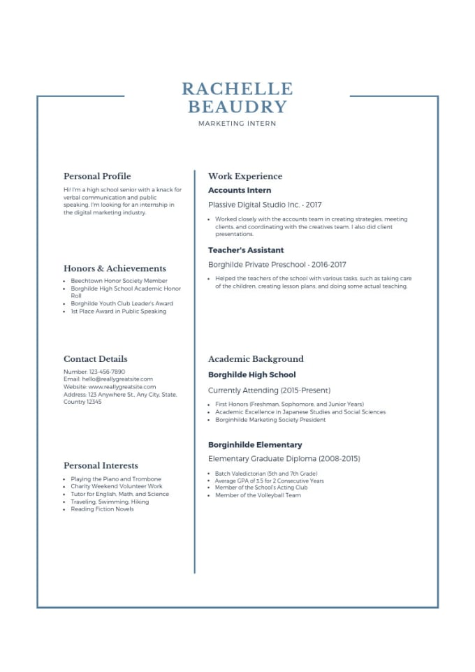 Design Beautiful Resume For Your Job Interview