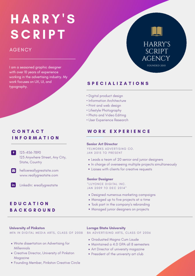 write a world class resume and cover letter