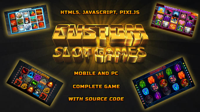 develop a complete HTML5 slot game with custom art and sound