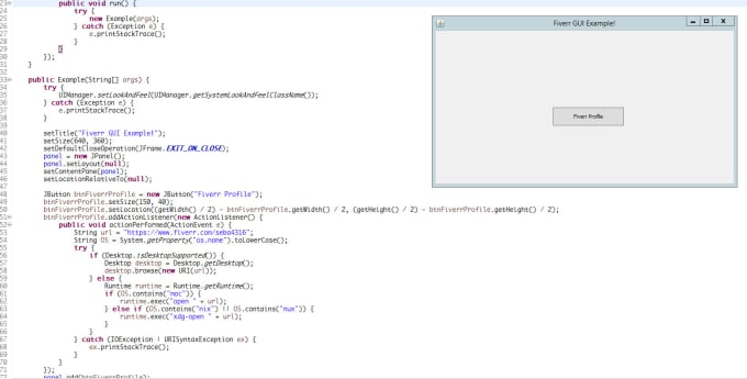 create java console or desktop applications