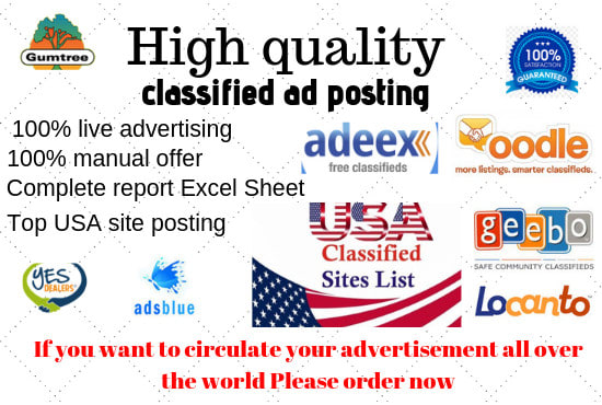 make your ads exactly high quality USA classified site