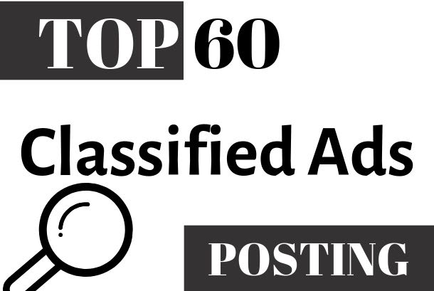 post your ads manually to top 60 classified sites in USA