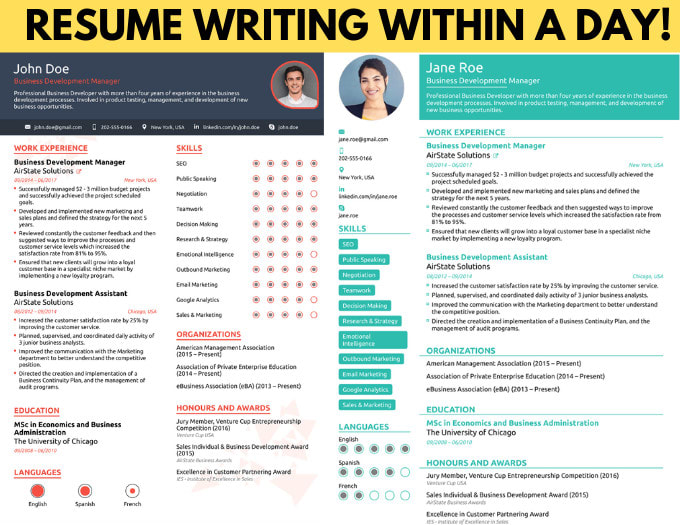 Write A Professional Cv Resume Which Lands The Interview