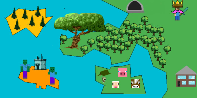make a pixelated map for your minecraft world