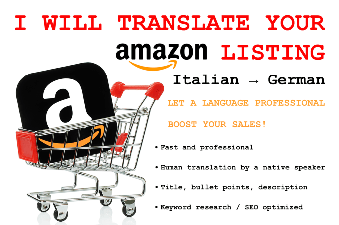 Translations Into Italian: Translate Your Amazon Listing From Italian Into German By