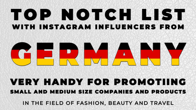 create a very useful instagram influencers list from germany