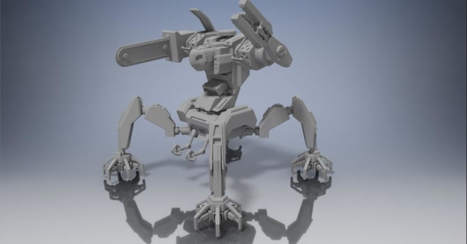 idhamlahia : I will design 3d model of gundam or robot ready for 3d print  for $50 on www fiverr com