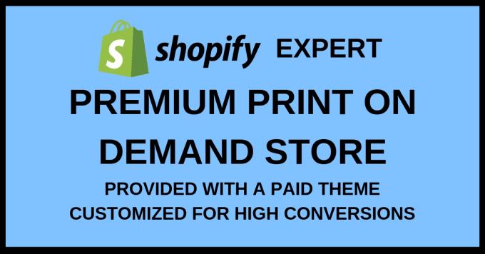 create unique print on demand shopify store, shopify website