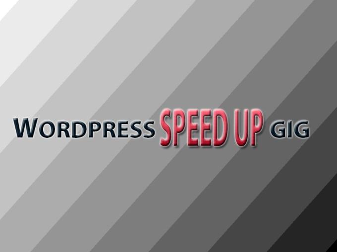 Speed up wordpress site by WordPress1122