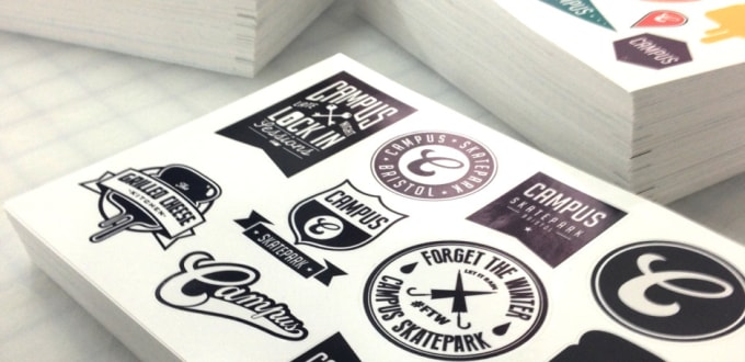 photograph regarding Printable Vinyl Stickers identify print and send out vinyl stickers for your self