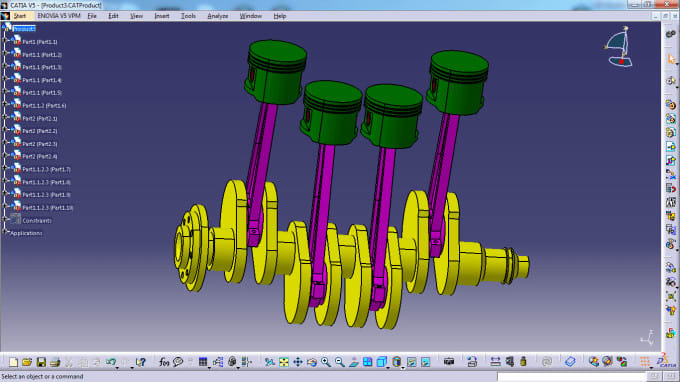 design cad parts on catia v5 and solidworks