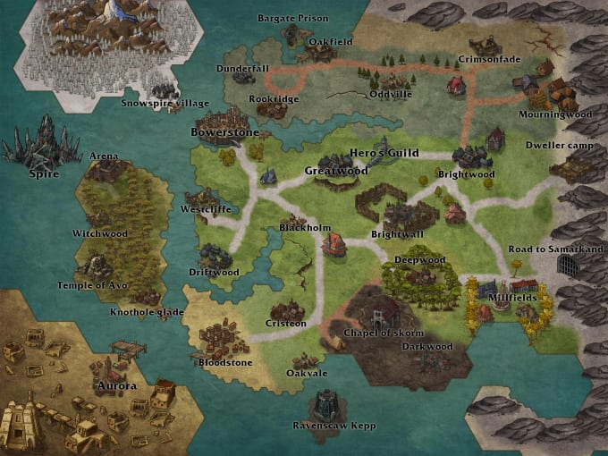 create you a custom dnd world map