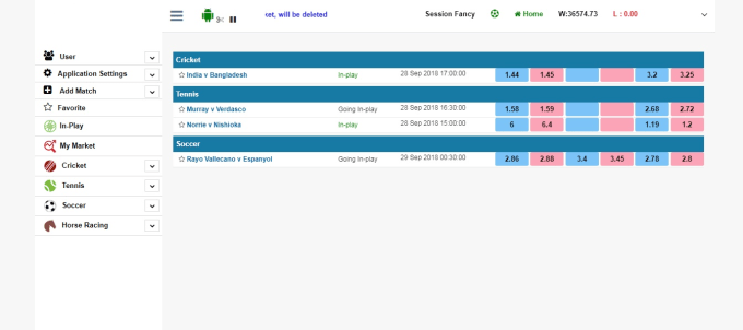 timmyheyden : I will create sportsbook software and provide API betfair and  fancy for $990 on www fiverr com