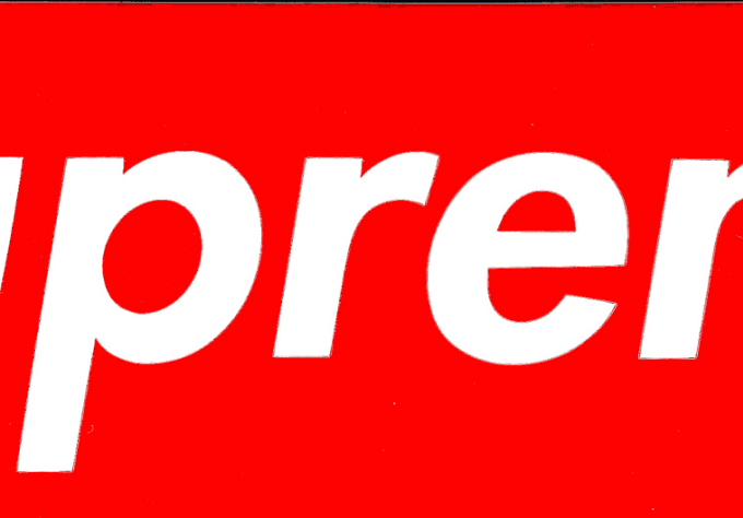Send you two supreme red box logo stickers by Guoaway