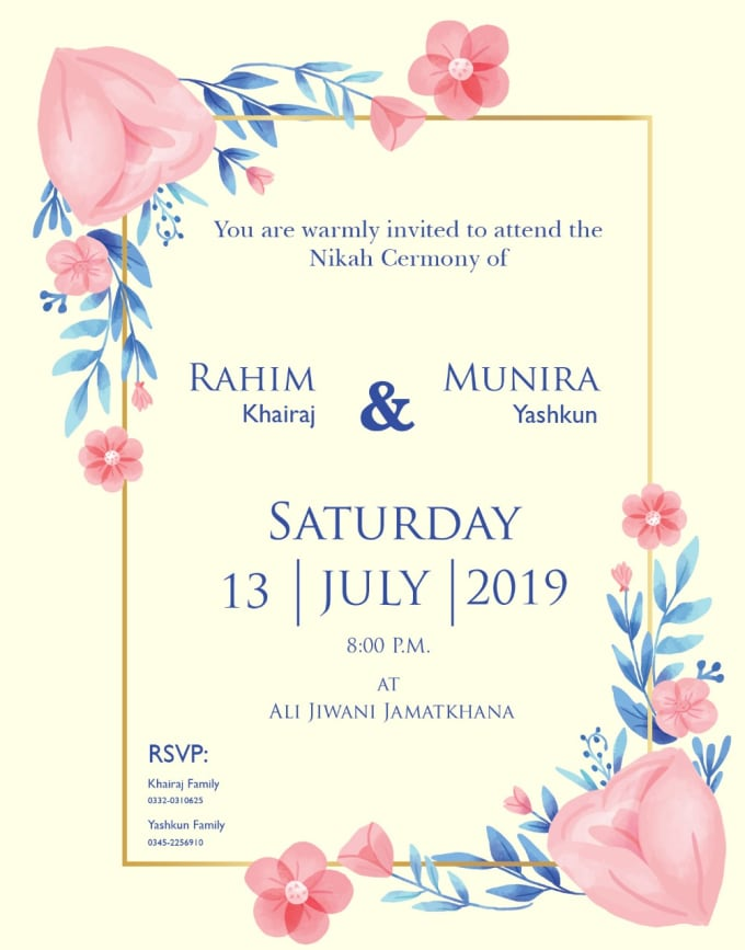 Design Wedding Invitation Card To Make Your Wedding Perfect