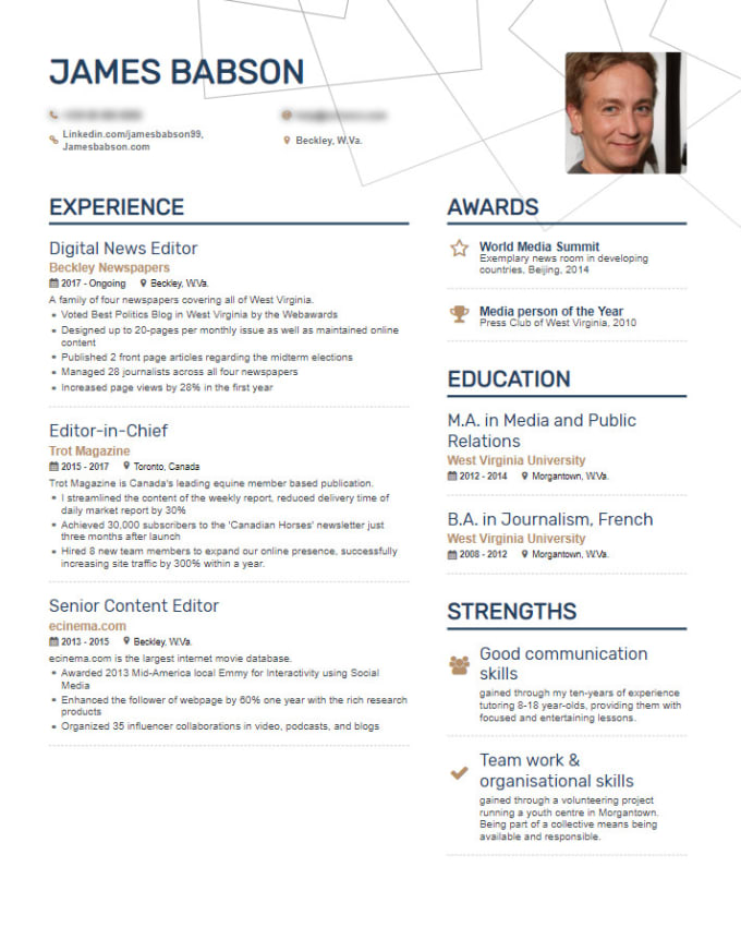 be helping you in your resume and cover letter writing