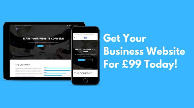create a custom, mobile responsive website design