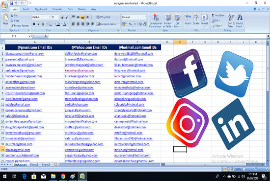 scrape targeted email and from any social media platform