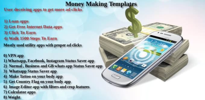 create money making android app for you
