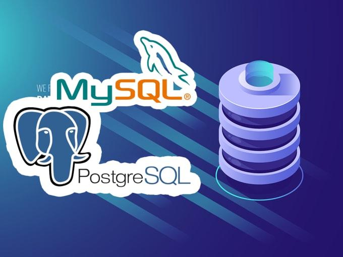 create normalized database using mysql or postgresql