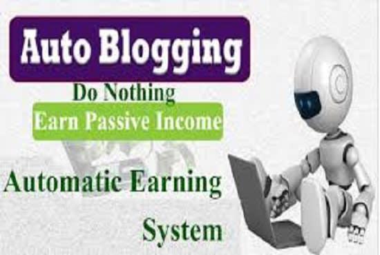 create autoblogging wordpress website and monetize it