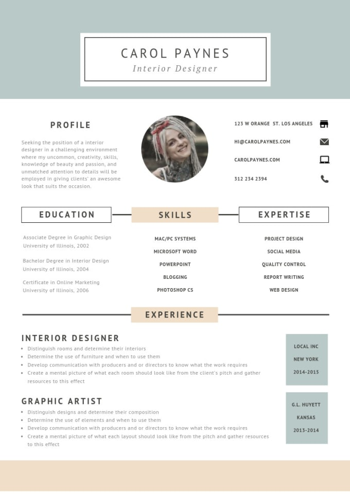 Design Attractive Resume And Cover Letter For Job Hunting