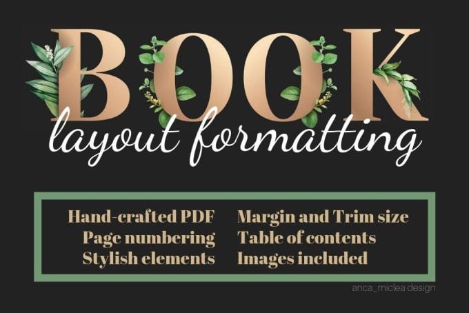 do print book layout formatting - GRAPHIC DESIGN
