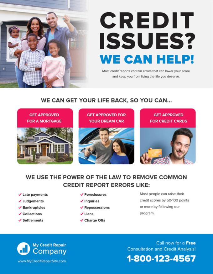 Make This Stunning Credit Repair Flyer