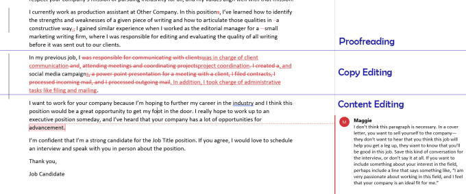 proofread your cover letter