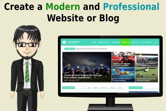I will create a professional wordpress website or blog