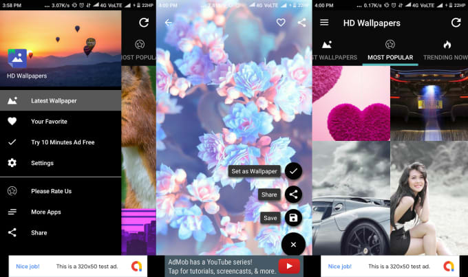 Make Wallpaper Android App With Backend Panel By Primenext