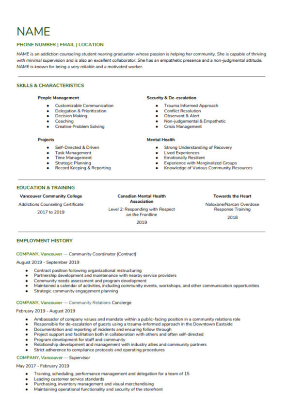 edit, write and format your resume, cover letter, and linked in