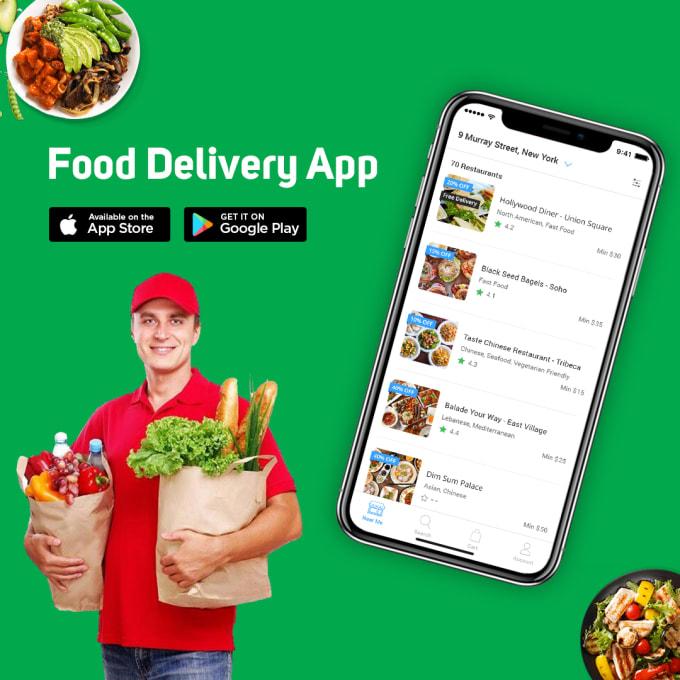create an on demand food delivery app like grubhub