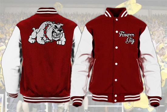 Create A College Varsity Jacket Mockup By Trymzoslo