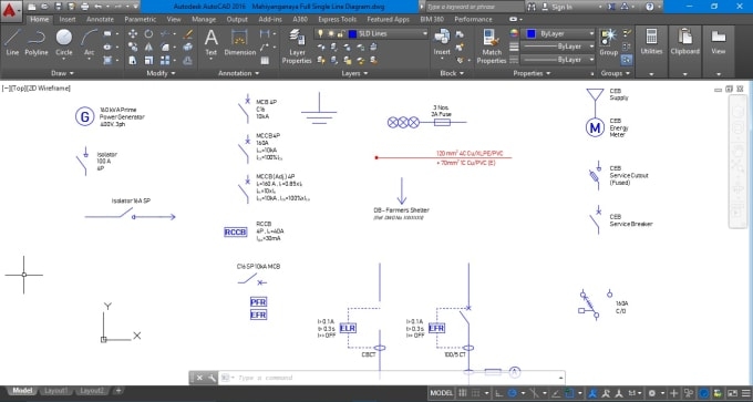 draw your electrical single line diagram in autocad Single Line Drawing Electrical on earthing system, overhead line, circuit breaker, single-phase electric power, straight-line diagram, block diagram, functional flow block diagram, circuit diagram, earth leakage circuit breaker, overhead power line, distribution board, power system harmonics, electricity distribution,