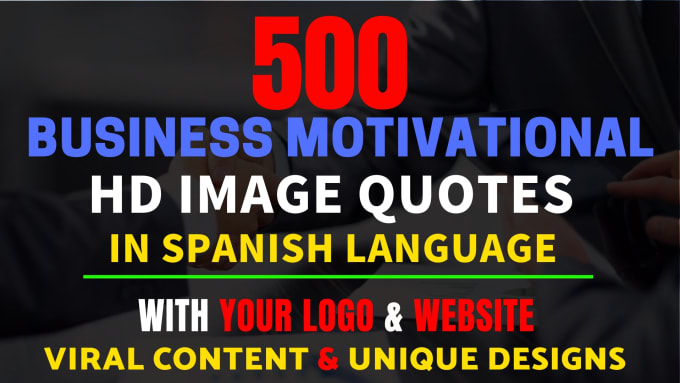 create hd business image quotes in spanish language for