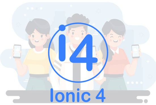 develop a hybrid app with custom designs ionic 4 for android