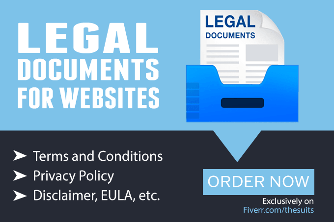 Terms And Conditions Privacy Policy Website TC - Legal documents websites