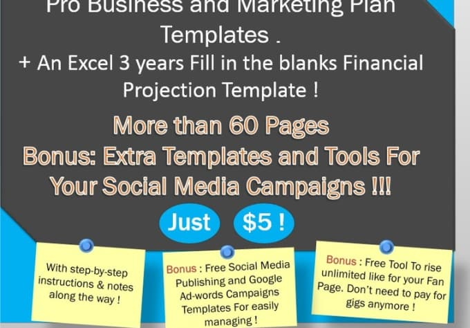 Send You Awesome Marketing And Business Plan Templates Include 36