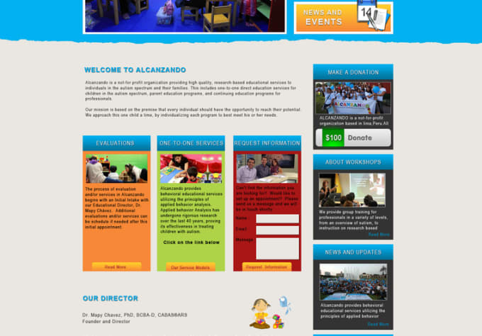Design A Creative And Stunning Webpage By Websparkles