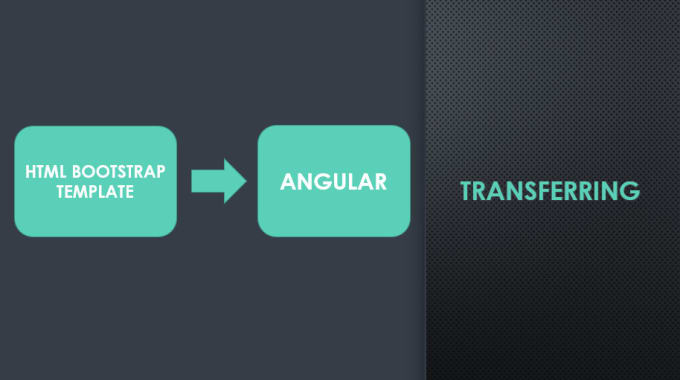 transfer html bootstrap template into angular