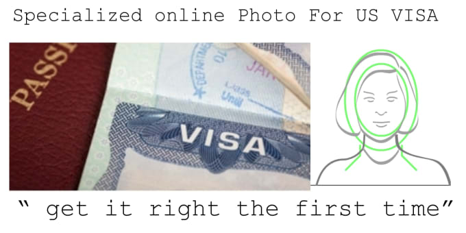 resize your US visa or dv lottery online photo