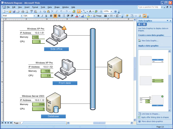 nmafridi : I will draw Network Diagrams by using MS Visio for $5 on  www fiverr com