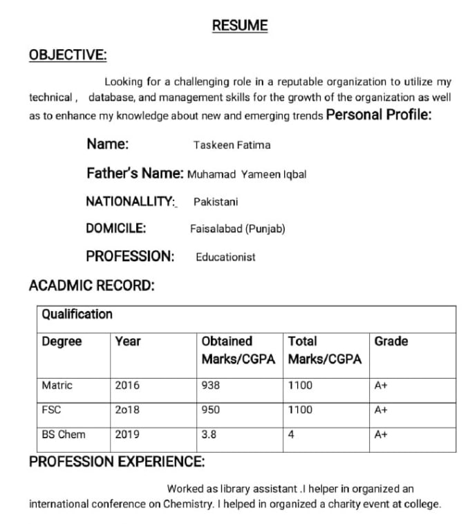 type and edit perfect word file cover letter resume etc by
