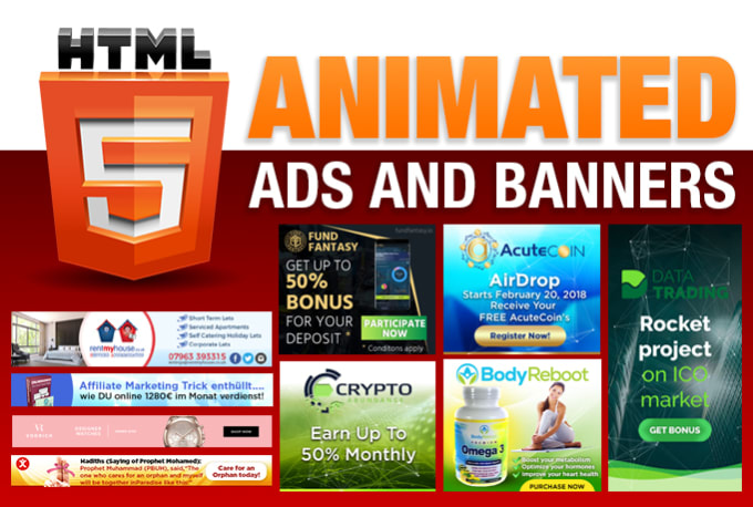 design and create HTML5 animated ads and banners